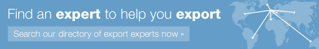 Find an expert to help you export - Search our directory of export experts now